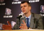 New Jersey Nets owner Mikhail Prokhorov addresses the media during a press conference at the Four Seasons Hotel on May 19, 2010 in New York City. Getty Images/ Mike Stobe