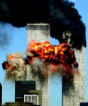 The north and south towers go up in flames on that fateful day. Associated Press /Alex Parsons