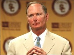Pat Haden who succeeded Mike Garrett as the athletic director at USC. Haden a graduate of of USC is one the college's most famous alumnus . He now looks to clean up what had become a somewhat dishevelled and morally bankrupt athletics program. Associated Press / Mike Cross