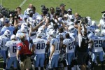 The Tennessee Titans huddle together before the NFL season opener against the Oakland Raiders at LP Field on September 12, 2010 in Nashville, Tennessee. The Titans defeated the Raiders 38-13. Joe Robbins/Getty Images