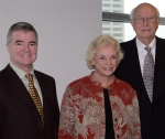 Former University of Washington President Mark Emmert (left) is seen here with now retired US Supreme Court Justice Sandra Day O'Connor and University of Washington Regent William H Gates. Emmert succeeded Myles Brand as President of the NCAA full-time after serving as interim President while Brand underwent medical treatment for cancer. picture courtesy of Univ of Washington @ all rights reserved .........