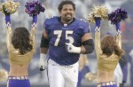 Former Ravens' defensive offensive tackle Jonathan Ogden whose name was raised by Josh Luchs as one of 30 current and former college athletes rs who were in receipt of cash from the agent while they were in college. AP Scott Neumann ............