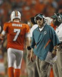 Miami Dolphins head coach Tony Sparano watches the game from the sidelines during the second half of an NFL football game against the New York Jets, Sunday, Sept. 26, 2010 in Miami. AP Photo/J Pat Carter ...