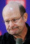 Minnesota Vikings head coach Brad Childress addresses the media during a news conference at the team's NFl football training facility in Eden Prairie, Minn., Wednesday, Nov 3, 2010.(AP Photo/Andy King)