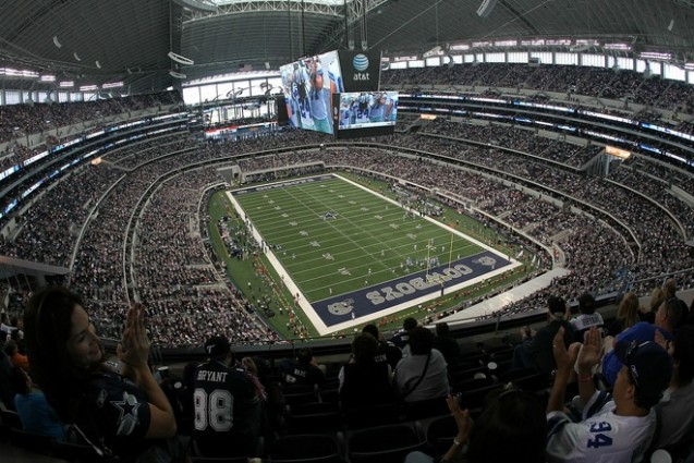 ARLINGTON, TX - OCTOBER 31: A general view of play between the Jacksonville Jaguars and the Dallas Cowboys at Cowboys Stadium on October 31, 2010 in Arlington, Texas. Photo by Ronald Martinez/Getty Images .....