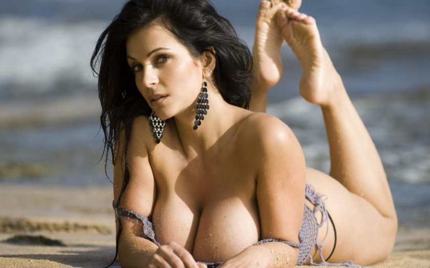 So you guys now understand why sportschump chooses to play with himself so much ? It's because of the buxom Denise Milani . And who wouldn't play with themselves after seeing this ?