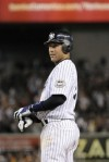 In this Sept. 9, 2009, photo, New York Yankees' Derek Jeter stands at first after hitting a single during a baseball game against the Tampa Bay Rays at Yankee Stadium in New York. Jeter and the Yankees haven't held contract talks in more than a week and the shortstop's agent has yet to make a formal proposal, according to a baseball executive familiar with the negotiations. AP Photo/Bill Kostroun ....