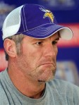 Minnesota Vikings quarterback Brett Favre addresses the media during a news conference at the team's NFL football training facility in Eden Prairie, Minn., Wednesday, Nov 3, 2010. AP Photo/Andy King ....