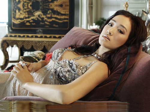 The exquisite and provocative Chinese actress Gong Li .