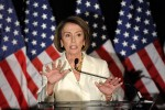 Former House Speaker Rep Nancy Pelosi (D-Ca,.) who plans to seek her party's nomination as Minority Whip within the House of Representatives . The Democrats' humbling defeat in the midterm elections has left the party's heirarchy in complete shock as to their resounding defeat at the hands of the Republicans within the House. Luckily enough however they were still able to remain in control of the Senate ___ but for how long one might now ask ? courtesy of Wall St Journal / Reuters