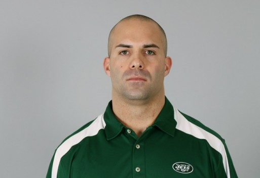 East Rutherford , NJ ,. Sal Alosi of the New York Jets poses for his 2009 NFL headshot at photo day in East Rutherford, New Jersey. The Jets suspended Alosi for the rest of the season without pay, and was fine $25,000 for tripping a Miami player on the sidelines during the game on December 12, 2010. Courtesy of Photo by NFL Photos @copyrighted material ... all rights reserved