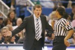 UConn coach Geno Auriemma reacts to a foul call in the first half. He didn't have anything to worry about. UConn beat Florida State 93-62 for their 89th consecutive victory, breaking the Division I record of 88 in a row set by the UCLA men in 1974. Hartford Courant / Michael McAndrews ............