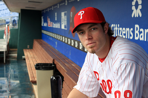 Former Phillies' slugger and outfielder Jayson Werth who under representation by agent Scott Boras signed a lucrative 7 year $126 million deal with the Washington Nationals of the NL East. courtesy of AP Photo / Rick McManus ......