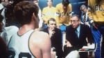 Legendary Bruins' coach John Wooden seen here preparing his team during the interval of a game. courtesy of AP /Photos/ Archives .........