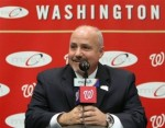 Mike Rizzo GM of the Washington Nationals having made something of a big splash in the free agency market with the acqusition of Jayson Werth hopes that the organization can reap immediate dividends . Courtesy of AP Photo/ Martin Groves ..............