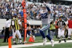 Tight end Jason Witten (82) of the Dallas Cowboys scores a touchdown against the Washington Redskins at Cowboys Stadium on December 19, 2010 in Arlington, Texas. Photo by Ronald Martinez/Getty Images ...............