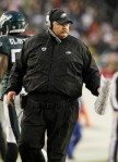 Head coach Andy Reid of the Philadelphia Eagles looks on against the Dallas Cowboys on January 2, 2011 at Lincoln Financial Field in Philadelphia, Pennsylvania. The Cowboys defeated the Eagles 14-13 . Photo by Jim McIsaac/Getty Images ........