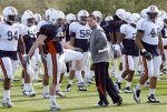 Auburn head coach Gene Chizik watches his players during NCAA college football practice, Wednesday, Jan. 5, 2011, in Scottsdale, Ariz. Auburn is scheduled to play Oregon in the BCS Championship on Monday, Jan. 10, in Glendale, Ariz. AP Photo/Ross D. Franklin ............