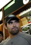 New York Jets quarterback Mark Sanchez (6) listens to a question at his locker after practice Tuesday, Jan. 4, 2011, in Florham Park, N.J. AP Photo/Mel Evans .......