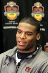 Auburn's Cam Newton answers questions during an NCAA college football news conference Wednesday, Jan. 5, 2011, in Scottsdale, Ariz. Auburn is scheduled to play Oregon in the BCS Championship football game on Monday, Jan. 10, in Glendale, Ariz. AP Photo/Ross D. Franklin ........