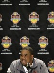 Auburn defensive tackle Nick Fairley speaks during an NCAA college football news conference, Thursday, Jan. 6, 2011, in Scottsdale, Ariz. Auburn is scheduled to play Oregon in the BCS Championship on Monday, Jan. 10, in Glendale, Ariz. AP Photo/Matt York ......