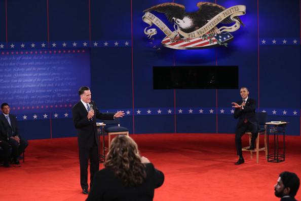Romney and Obama at Hofstra University